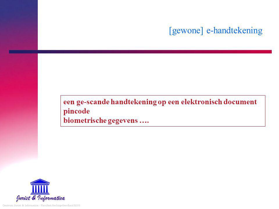 [gewone] e-handtekening